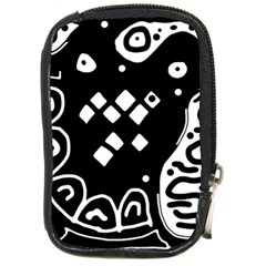 Black and white high art abstraction Compact Camera Cases