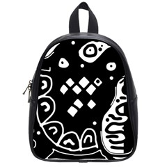 Black and white high art abstraction School Bags (Small)
