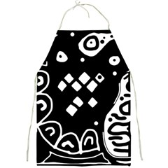 Black and white high art abstraction Full Print Aprons