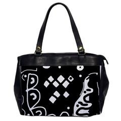 Black and white high art abstraction Office Handbags