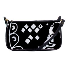 Black and white high art abstraction Shoulder Clutch Bags