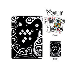 Black and white high art abstraction Playing Cards 54 (Mini)