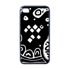 Black and white high art abstraction Apple iPhone 4 Case (Black)