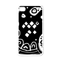 Black and white high art abstraction Apple iPhone 4 Case (White)