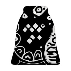 Black and white high art abstraction Ornament (Bell)