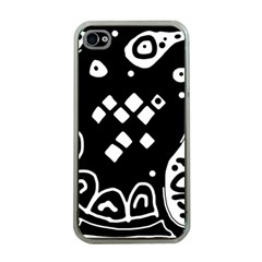 Black and white high art abstraction Apple iPhone 4 Case (Clear)