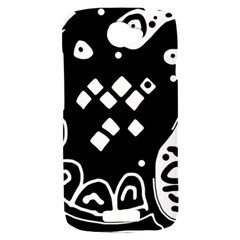 Black and white high art abstraction HTC One S Hardshell Case