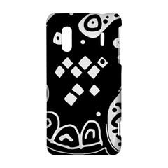 Black and white high art abstraction HTC Evo Design 4G/ Hero S Hardshell Case