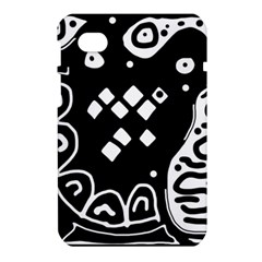 Black and white high art abstraction Samsung Galaxy Tab 7  P1000 Hardshell Case