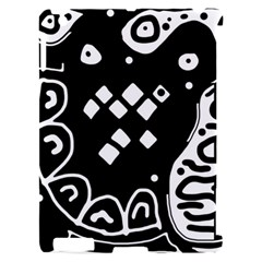 Black and white high art abstraction Apple iPad 2 Hardshell Case (Compatible with Smart Cover)