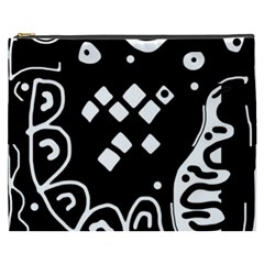 Black and white high art abstraction Cosmetic Bag (XXXL)