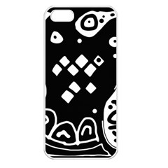 Black and white high art abstraction Apple iPhone 5 Seamless Case (White)
