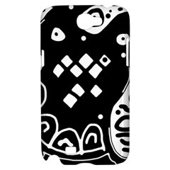 Black and white high art abstraction Samsung Galaxy Note 2 Hardshell Case