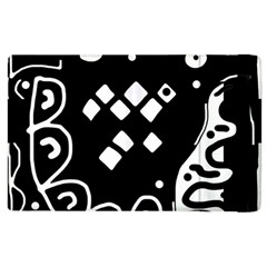 Black and white high art abstraction Apple iPad 2 Flip Case