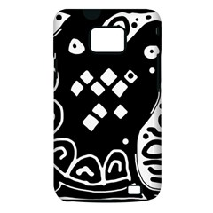 Black and white high art abstraction Samsung Galaxy S II i9100 Hardshell Case (PC+Silicone)