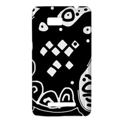 Black and white high art abstraction HTC One SU T528W Hardshell Case
