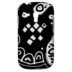 Black and white high art abstraction Samsung Galaxy S3 MINI I8190 Hardshell Case