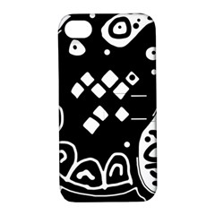 Black and white high art abstraction Apple iPhone 4/4S Hardshell Case with Stand