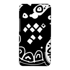 Black and white high art abstraction HTC One M7 Hardshell Case