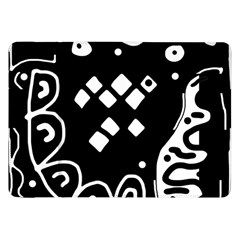 Black and white high art abstraction Samsung Galaxy Tab 8.9  P7300 Flip Case