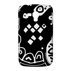 Black and white high art abstraction Samsung Galaxy Duos I8262 Hardshell Case