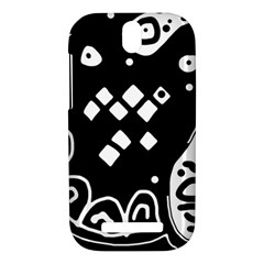 Black and white high art abstraction HTC One SV Hardshell Case