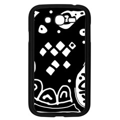 Black and white high art abstraction Samsung Galaxy Grand DUOS I9082 Case (Black)