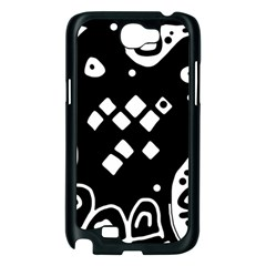 Black and white high art abstraction Samsung Galaxy Note 2 Case (Black)