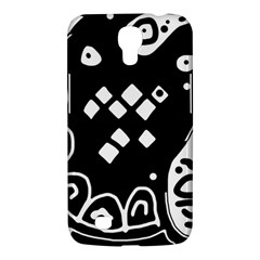 Black and white high art abstraction Samsung Galaxy Mega 6.3  I9200 Hardshell Case