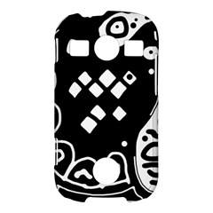 Black and white high art abstraction Samsung Galaxy S7710 Xcover 2 Hardshell Case