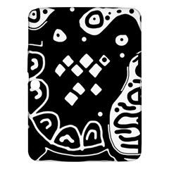 Black and white high art abstraction Samsung Galaxy Tab 3 (10.1 ) P5200 Hardshell Case
