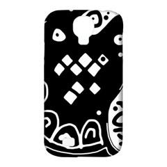 Black and white high art abstraction Samsung Galaxy S4 Classic Hardshell Case (PC+Silicone)