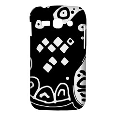 Black and white high art abstraction Samsung Galaxy Ace 3 S7272 Hardshell Case