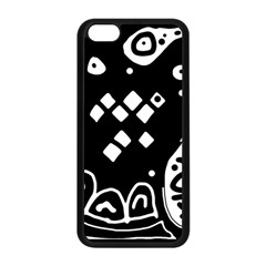 Black and white high art abstraction Apple iPhone 5C Seamless Case (Black)