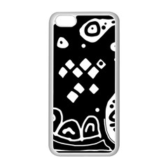Black and white high art abstraction Apple iPhone 5C Seamless Case (White)