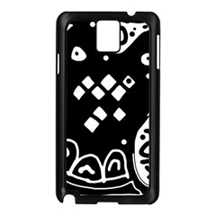 Black and white high art abstraction Samsung Galaxy Note 3 N9005 Case (Black)