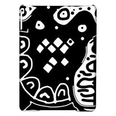 Black and white high art abstraction iPad Air Hardshell Cases