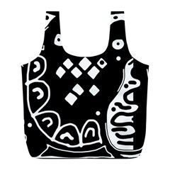 Black and white high art abstraction Full Print Recycle Bags (L)