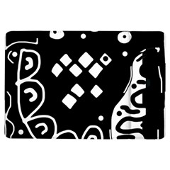 Black and white high art abstraction iPad Air Flip