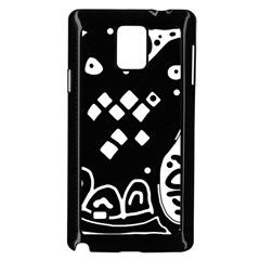 Black and white high art abstraction Samsung Galaxy Note 4 Case (Black)