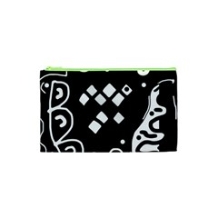 Black and white high art abstraction Cosmetic Bag (XS)