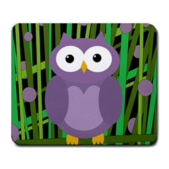 Purple owl Large Mousepads