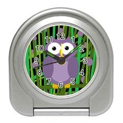 Purple owl Travel Alarm Clocks
