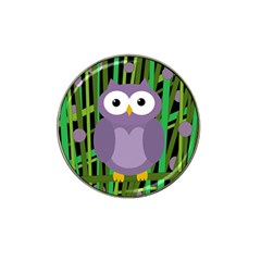Purple owl Hat Clip Ball Marker (4 pack)