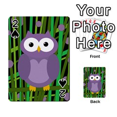 Purple owl Playing Cards 54 Designs