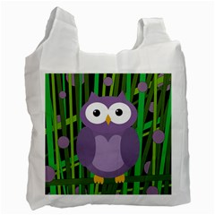 Purple owl Recycle Bag (One Side)