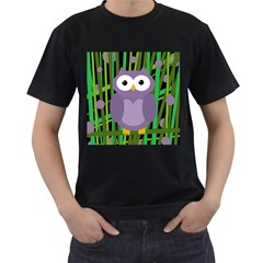 Purple owl Men s T-Shirt (Black)