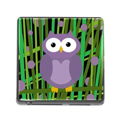 Purple owl Memory Card Reader (Square)