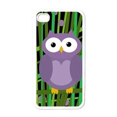 Purple owl Apple iPhone 4 Case (White)