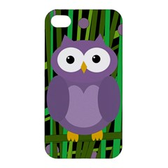 Purple owl Apple iPhone 4/4S Hardshell Case